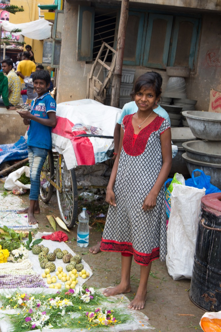 enfants Inde Bangalore photographie de rue