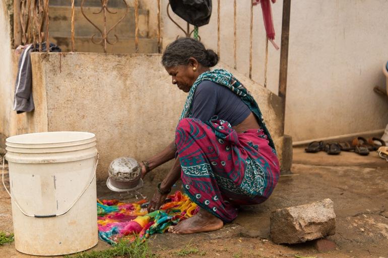 femmes Bangalore village inde