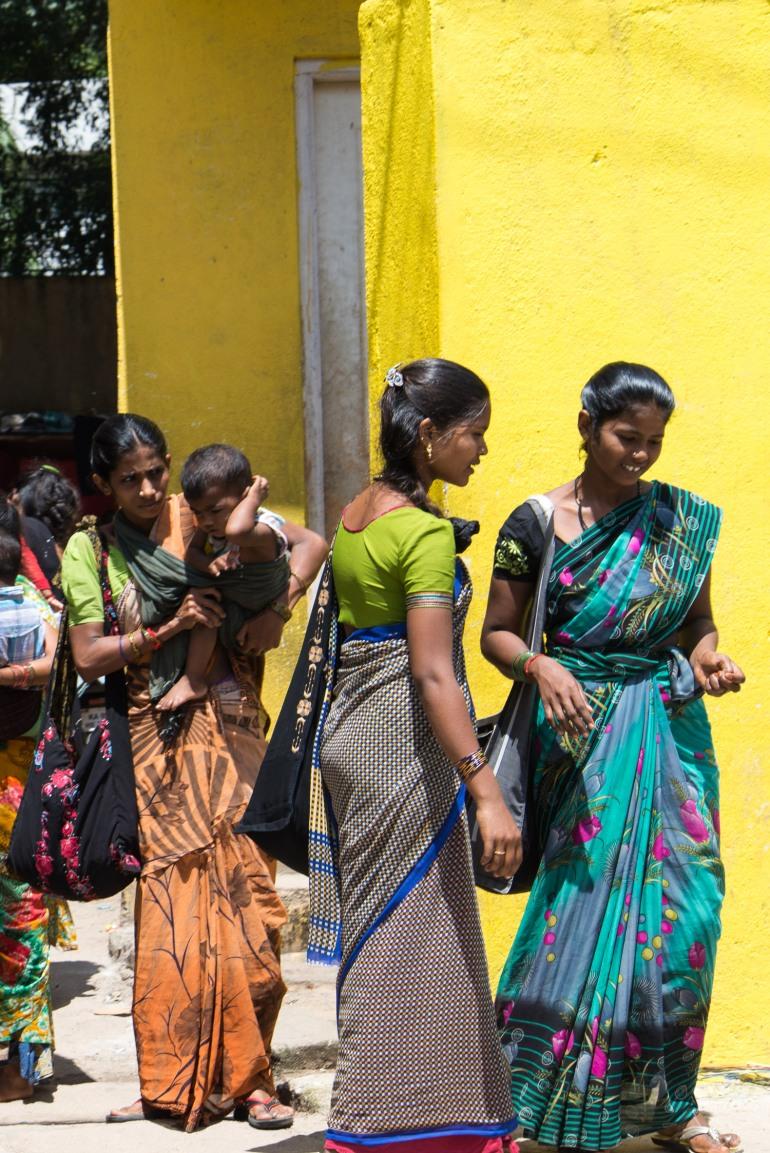 Femmes des villages en Inde