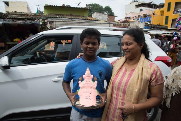 inde india bangalore pottery town ganesh chaturthi
