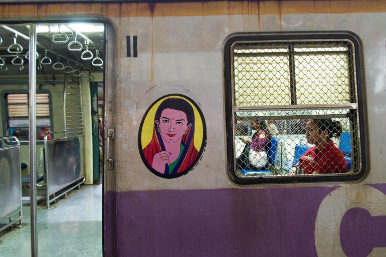 Train en Inde, wagon réservé aux femmes